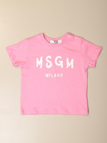 T-shirt Msgm Kids in cotone con stampa logo