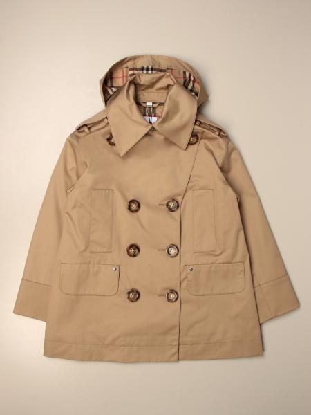 Burberry double-breasted trench coat with hood