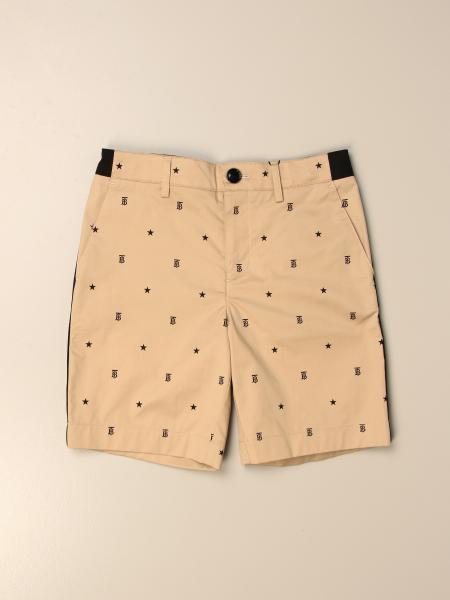 Pantalone Burberry in cotone con monogramma TB all over