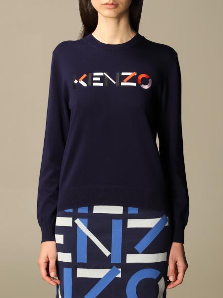 Kenzo donna: Maglia a girocollo Kenzo con logo
