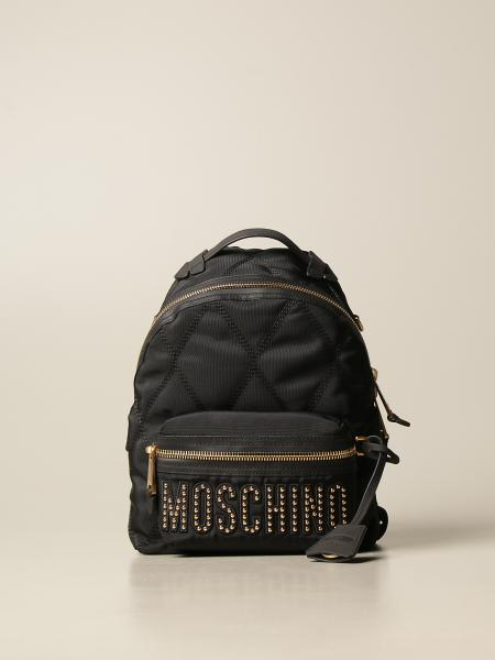 Moschino women: Moschino Couture backpack in canvas with logo