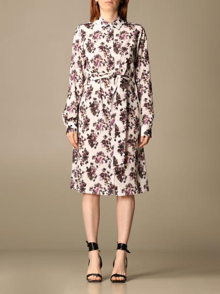 Pinko women: Pinko shirt dress with floral pattern