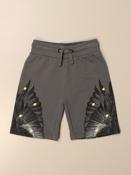 Pantaloncino jogging Marcelo Burlon in cotone con piume di uccelli