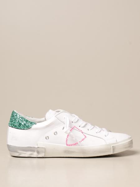 Philippe Model donna: Sneakers Philippe Model in pelle