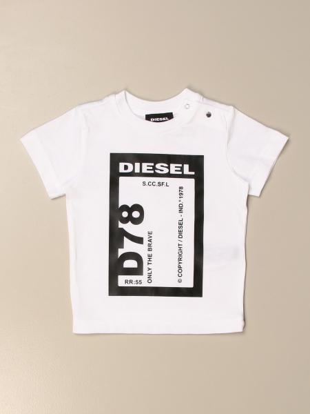 T-shirt Diesel in cotone con stampa logo