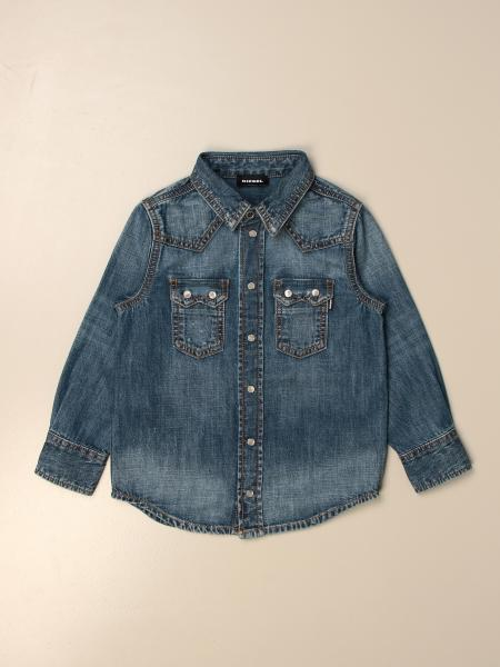 Camicia di jeans Diesel in denim used