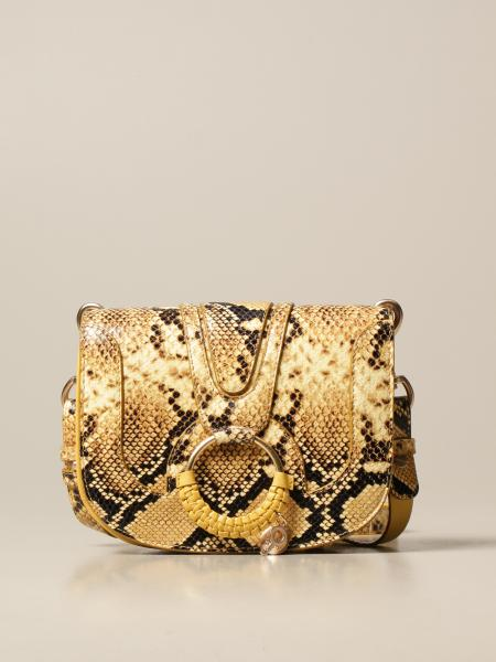 See By Chloé: Borsa Hana See By Chloé in pelle con stampa pitone