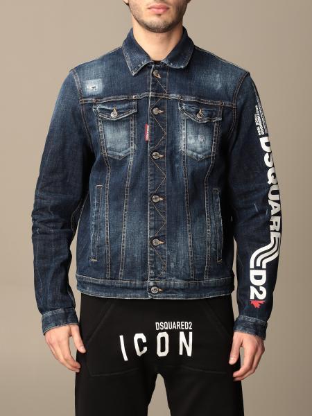 Giacca di jeans Dsquared2 con big logo