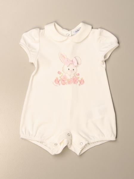 Monnalisa bambino: Tutina Monnalisa in cotone con stampa coniglietto