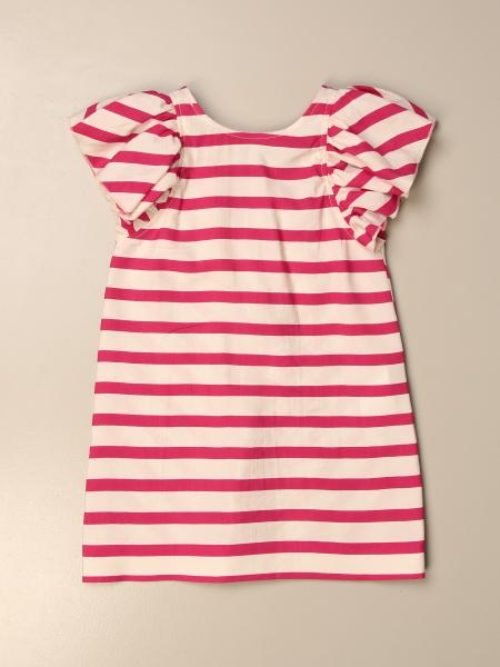 Monnalisa short dress in striped cotton