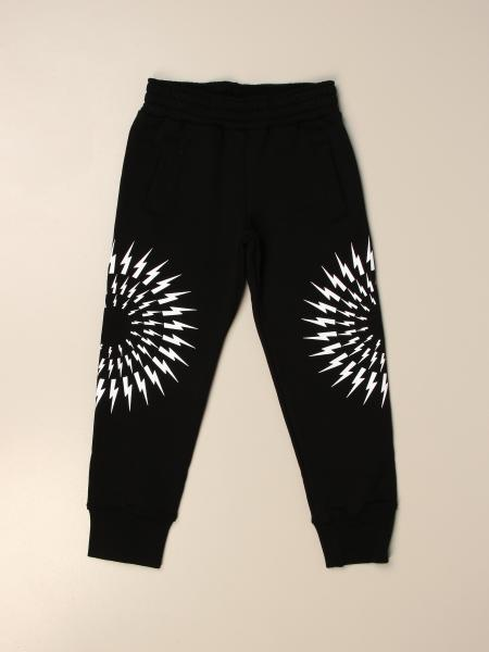 Neil Barrett jogging trousers in cotton with lightning
