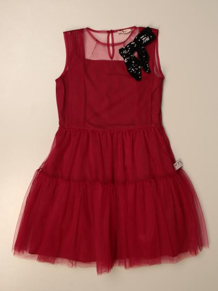 N°21 dress in tulle with sequin bow