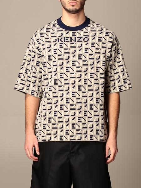 T-shirt a girocollo Kenzo con logo all over