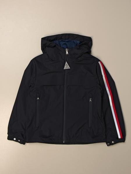 Moncler nylon jacket with hood and zip