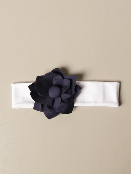 Il Gufo headband with floral application