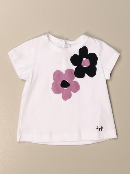Il Gufo t-shirt in cotton with floral prints