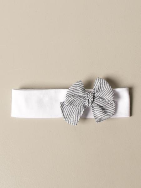 Il Gufo headband with striped bow
