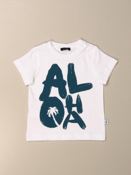 Il Gufo t-shirt in cotton with Aloha print