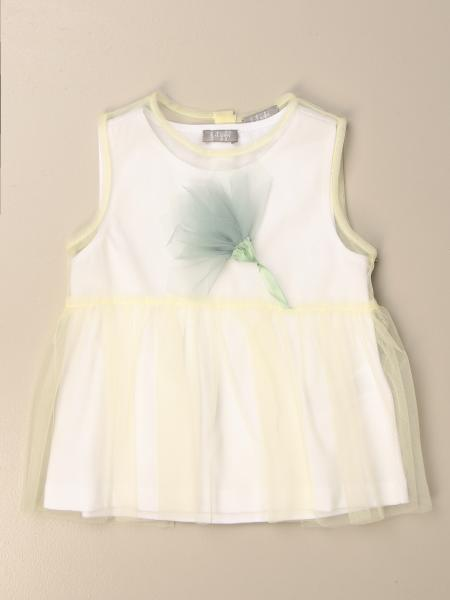 Il Gufo top in tulle with flower