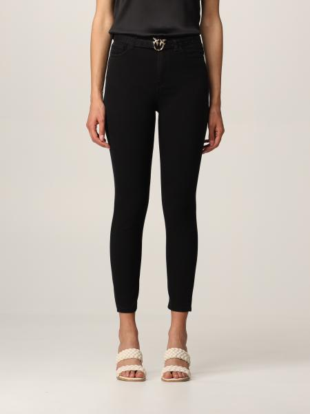 Pinko women: Pinko 5-pocket jeans with Love Birds buckle