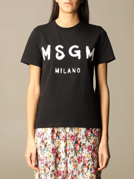 T-shirt Msgm in cotone con big logo