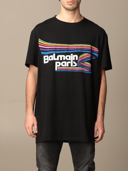 Balmain: T-shirt Balmain in cotone con logo