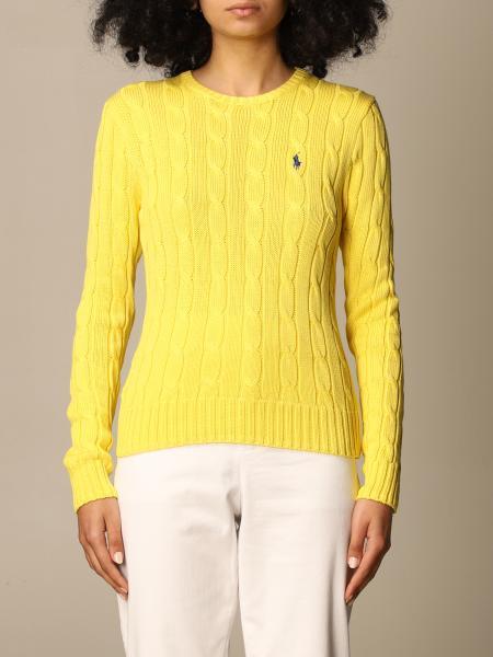Polo Ralph Lauren donna: Maglia a girocollo Polo Ralph Lauren in maglia a trecce