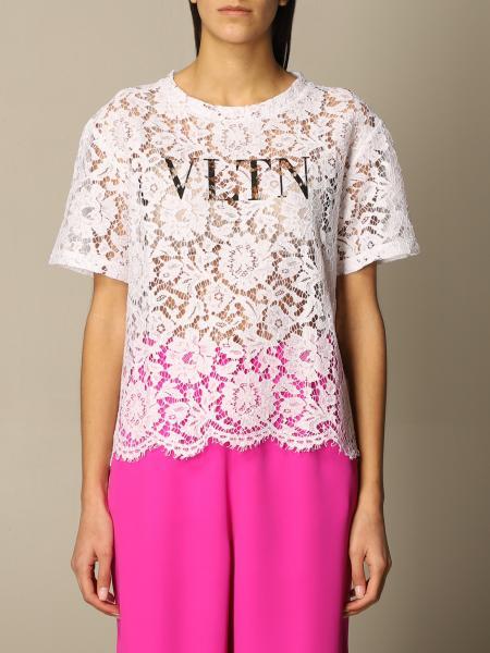 Valentino: Maglia Valentino in pizzo con logo VLTN