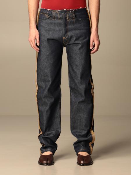 Maison Margiela uomo: Jeans Maison Margiela con bordi sfrangiati