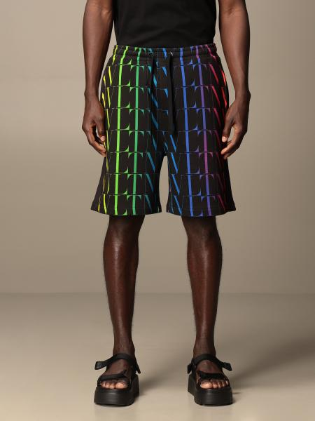 Valentino cotton jogging shorts with all-over VLTN logo