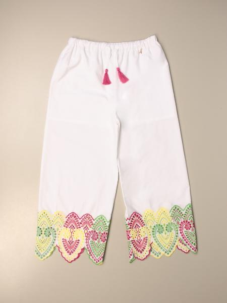 Patrizia Pepe trousers in cotton with embroidery