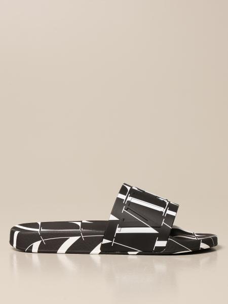 Valentino Garavani slider sandal with Vltn logo