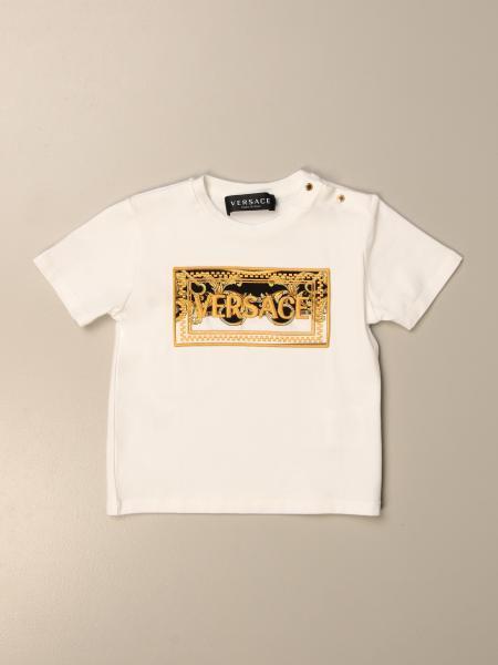 T-shirt Versace Young con logo barocco