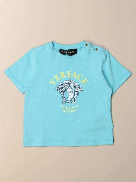 T-shirt Versace Young in cotone con logo
