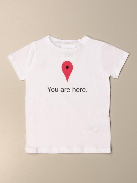 T-shirt Douuod in cotone con stampa you are here