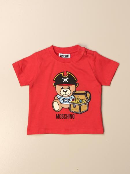 T-shirt Moschino Baby in cotone con big teddy pirata