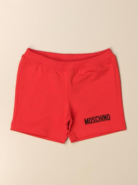 Moschino Baby jogging shorts with mini teddy