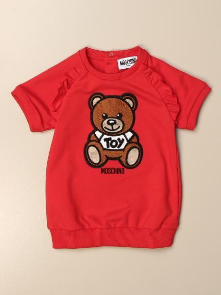 Abito a felpa Moschino Baby con big Teddy