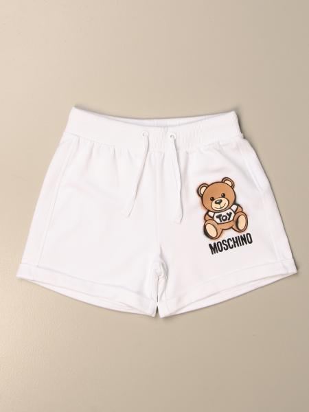 Moschino Kid jogging shorts with teddy