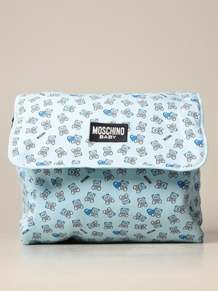Diaper bag Moschino Baby in tessuto stampato con orsetto