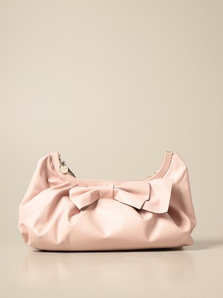 Red Valentino: Red (V) leather bag with bow