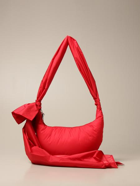 Red(V): Borsa padded Red(V) in nylon con fiocco