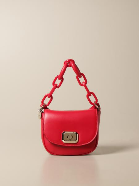 Red(V): Borsa Red(V) in pelle con manico a catena