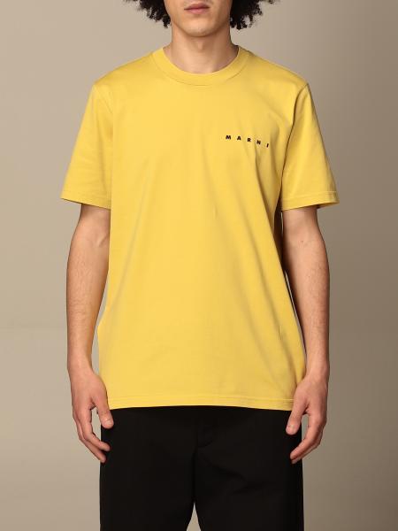 Marni: Marni cotton T-shirt with logo and back print