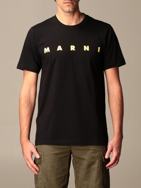 Marni: T-shirt Marni in cotone con big logo