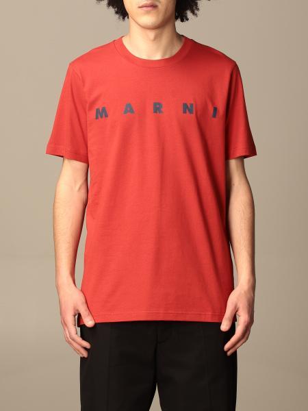 Marni: Marni cotton t-shirt with big logo