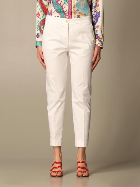 Etro women: Classic Etro trousers in cotton