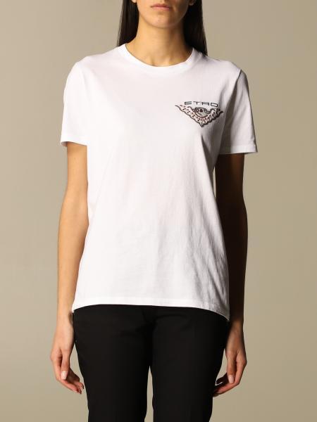 Etro women: Etro cotton T-shirt with back print