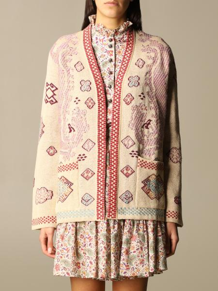 Etro cardigan in patterned linen blend