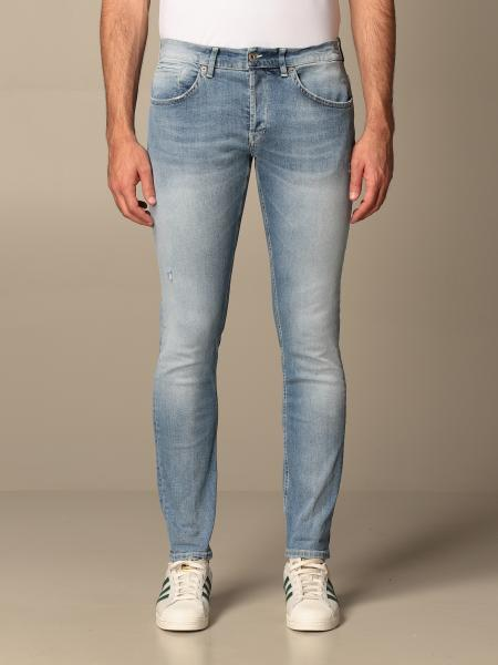 Jeans Dondup a vita bassa in denim used